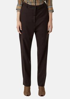 Burberry Women's Layered-Waist Wool Trousers