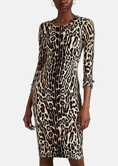 Burberry Women's Leopard-Print Jersey Dress