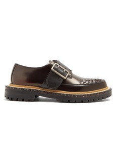 Burberry Woven-toe buckle-fastening leather loafers