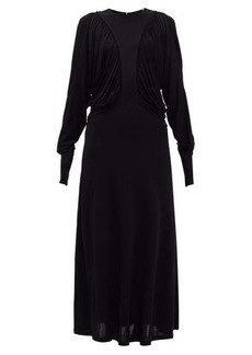 Burberry Wynona gathered liquid-jersey maxi-dress