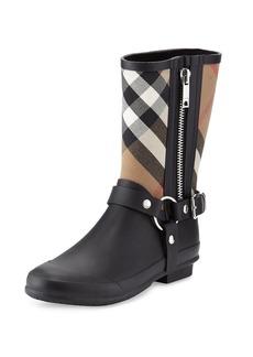 Burberry Zane Check Harness Rain Boot
