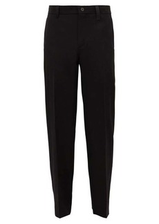 Burberry Zip-pocket wool slim-leg trousers