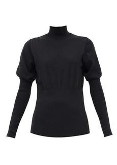 Burberry Zuri puffed-sleeve cotton-blend sweater