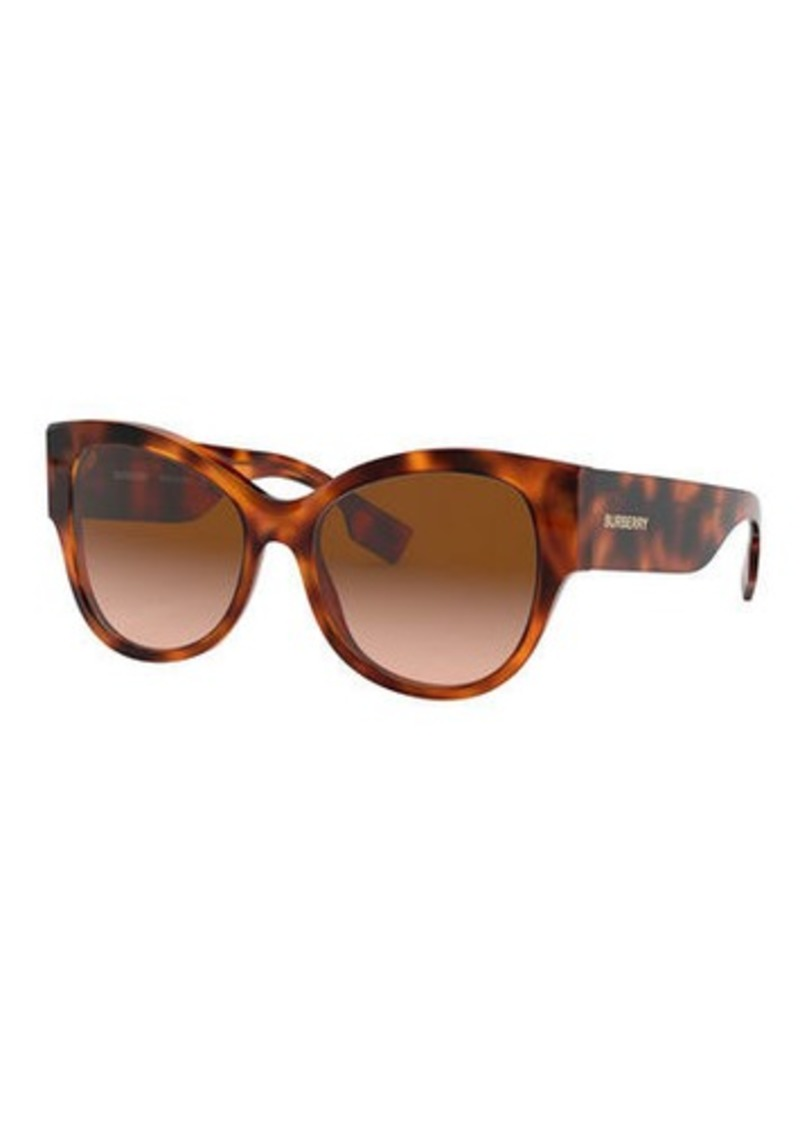 Burberry Butterfly Acetate Sunglasses w/ Check Arms