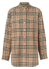 Burberry Button-down Collar Vintage Check Oversized Shirt