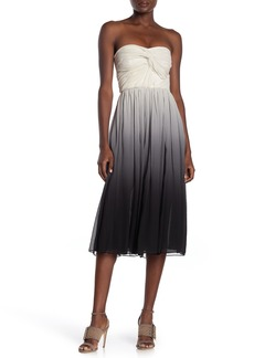 Burberry Caity Ombre Strapless Dress