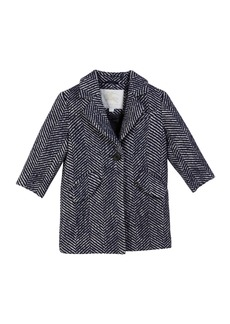 Burberry Camelia Herringbone Coat  Size 3-14