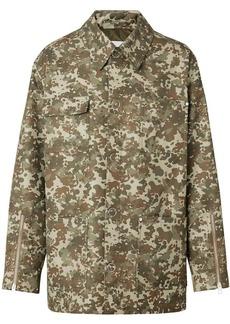 Burberry Camouflage Print Cotton Gabardine Jacket