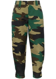 Burberry camouflage print ramie cotton cargo trousers
