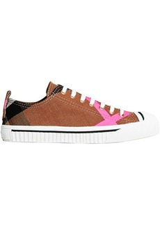 Burberry Canvas Check and Leather Sneakers