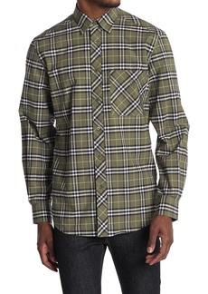 Burberry Canwell Plaid Button Front Shirt