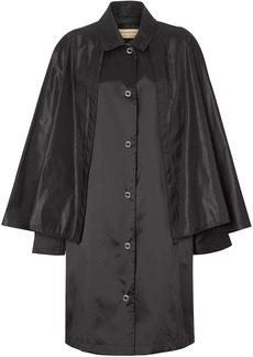 Burberry cape detail belted coat