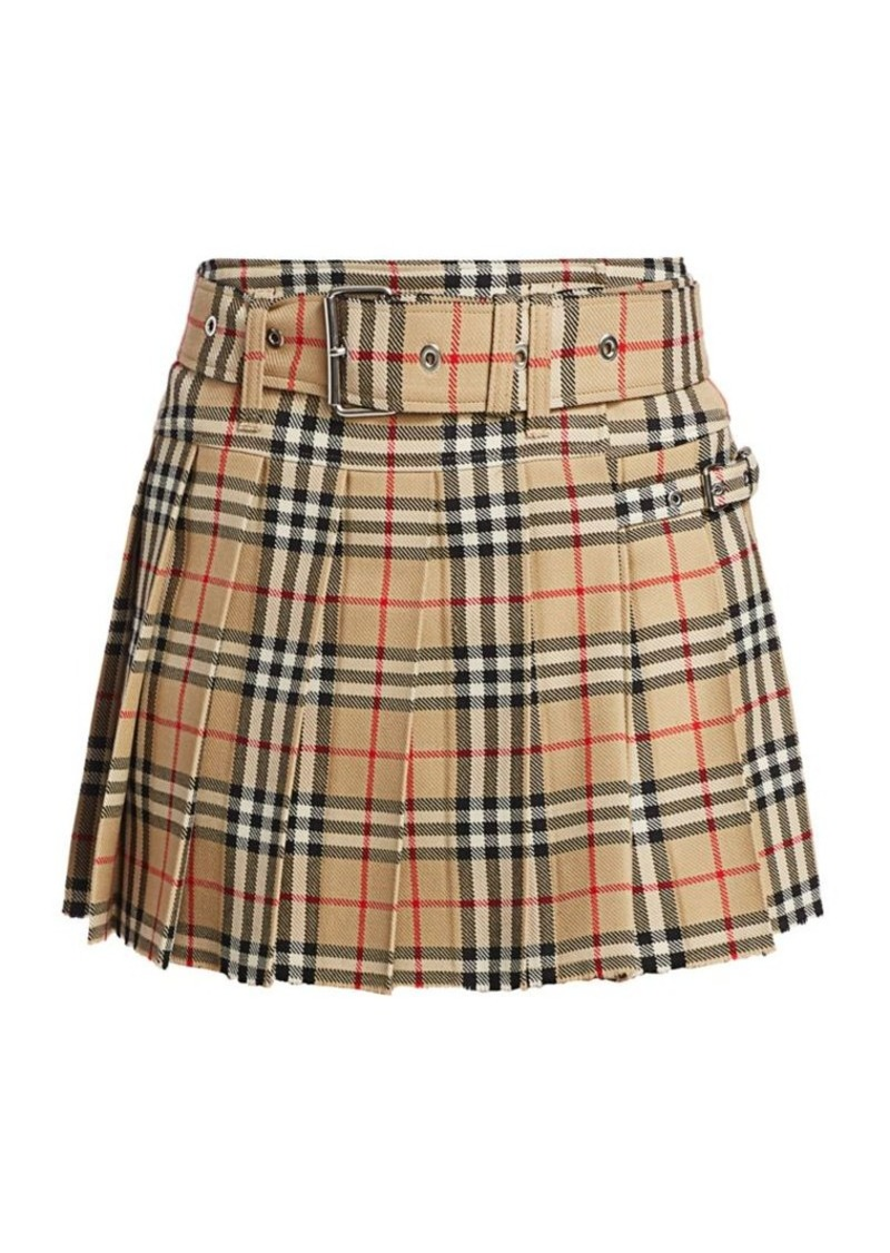 Burberry Carmen Check Mini Kilt