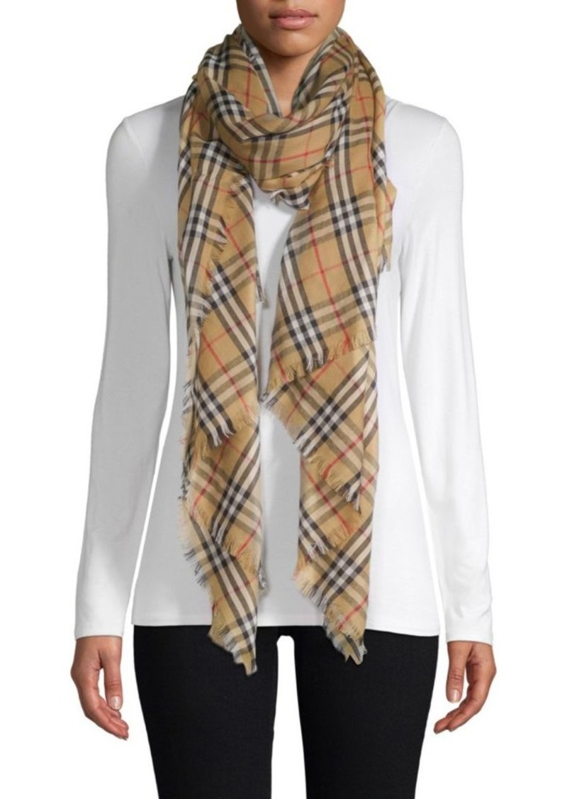 842565fb8e5 Burberry Cashmere Check Scarf