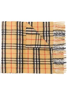 Burberry cashmere classic vintage check scarf