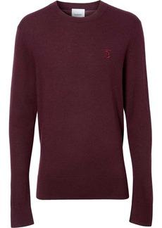 Burberry cashmere monogram motif sweater