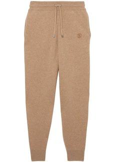 Burberry monogram cashmere track pants