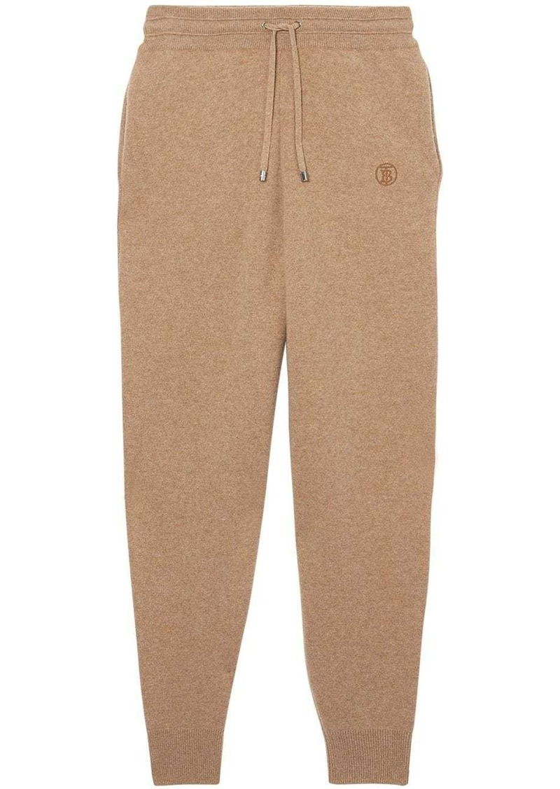 Burberry monogram cashmere track pants