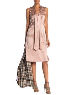 Burberry Cathy Silk Satin Dress