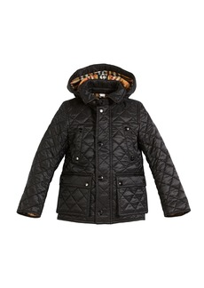 Burberry Charlie Check-Lined Quilted Jacket