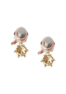 Burberry Charm Rose Gold-plated Nut and Bolt Earrings