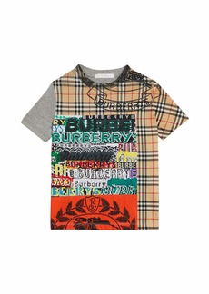 Burberry Check & Logo Short-Sleeve Graphic Tee