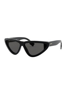 Burberry Check Cat-Eye Acetate Sunglasses