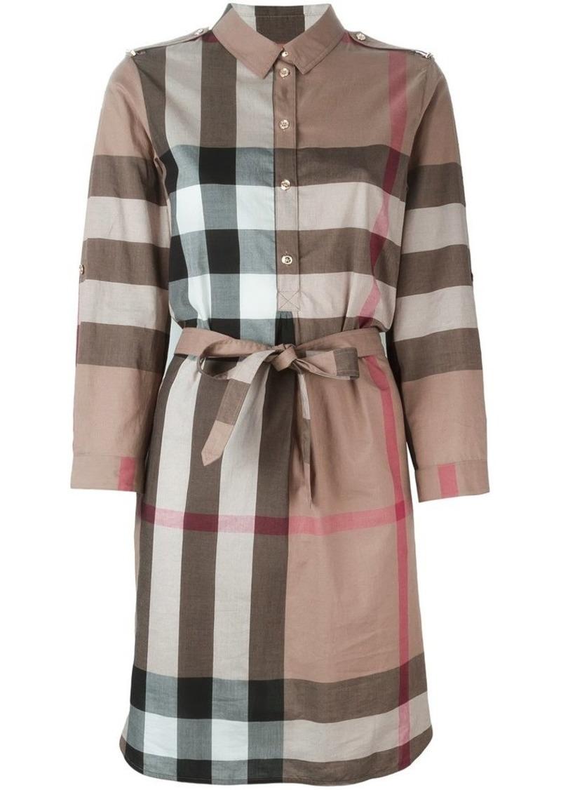 12449b2c6f12 Burberry Check Cotton Shirt Dress