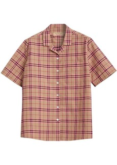 Burberry Check Cotton Short-sleeved Shirt