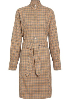 Burberry Check Cotton Tie-waist Shirt Dress