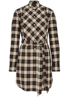 Burberry Check Cotton Tie-waist Shirt Dress