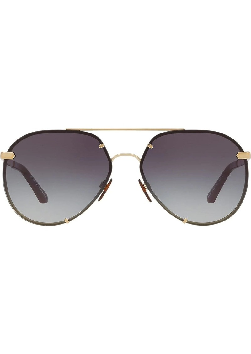 Burberry check detail aviator sunglasses