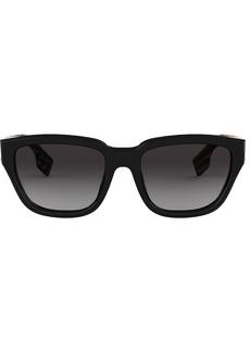 Burberry check detail rectangular sunglasses