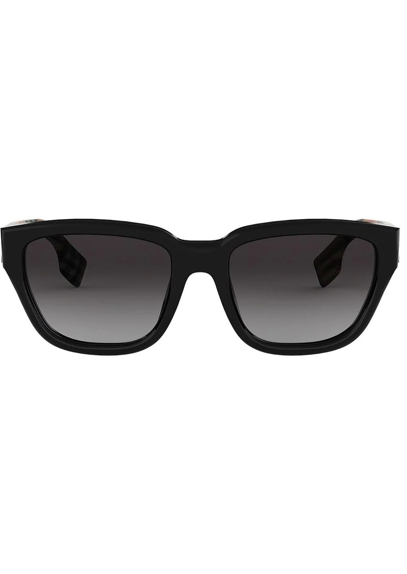 Burberry check detail rectangular sunglasses
