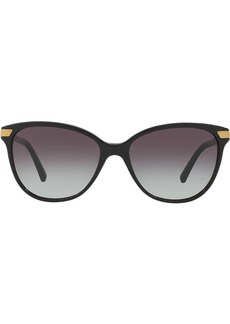 Burberry check detail round sunglasses