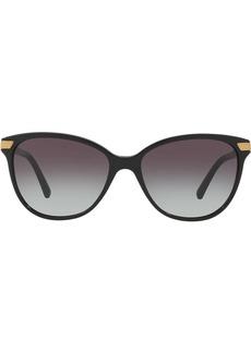 Burberry check detail round sunglasses