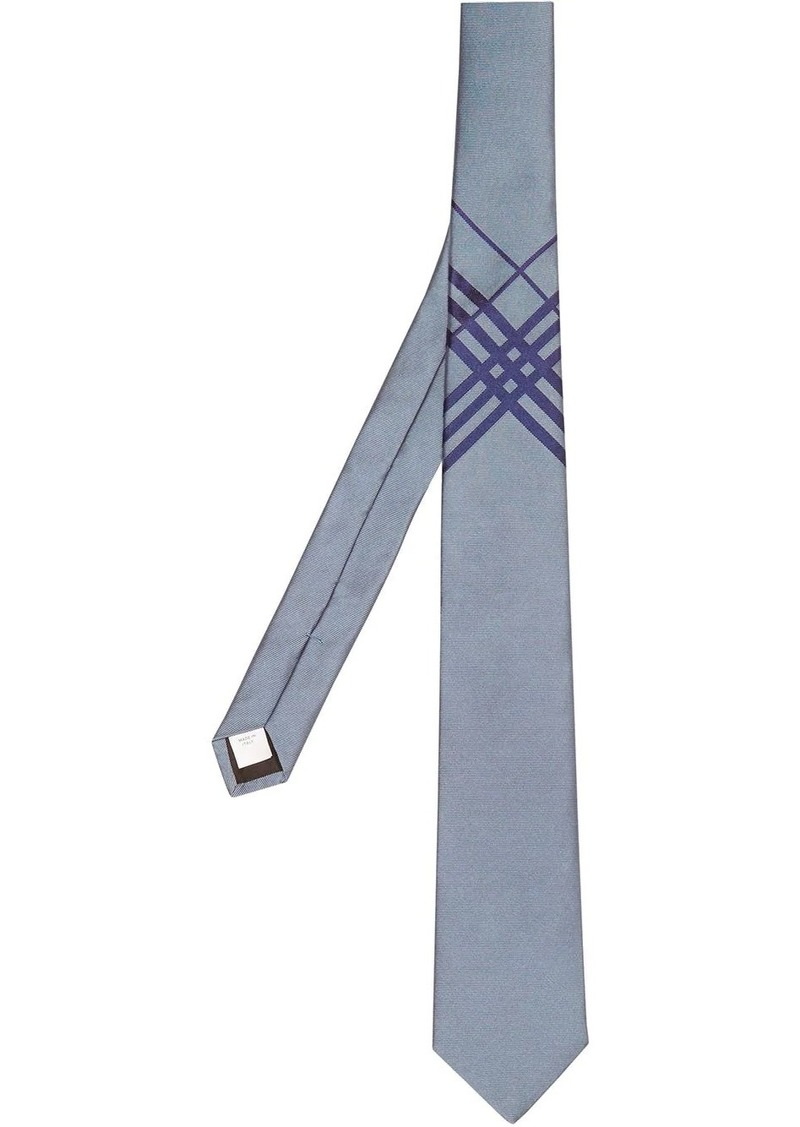 Burberry check jacquard detail tie