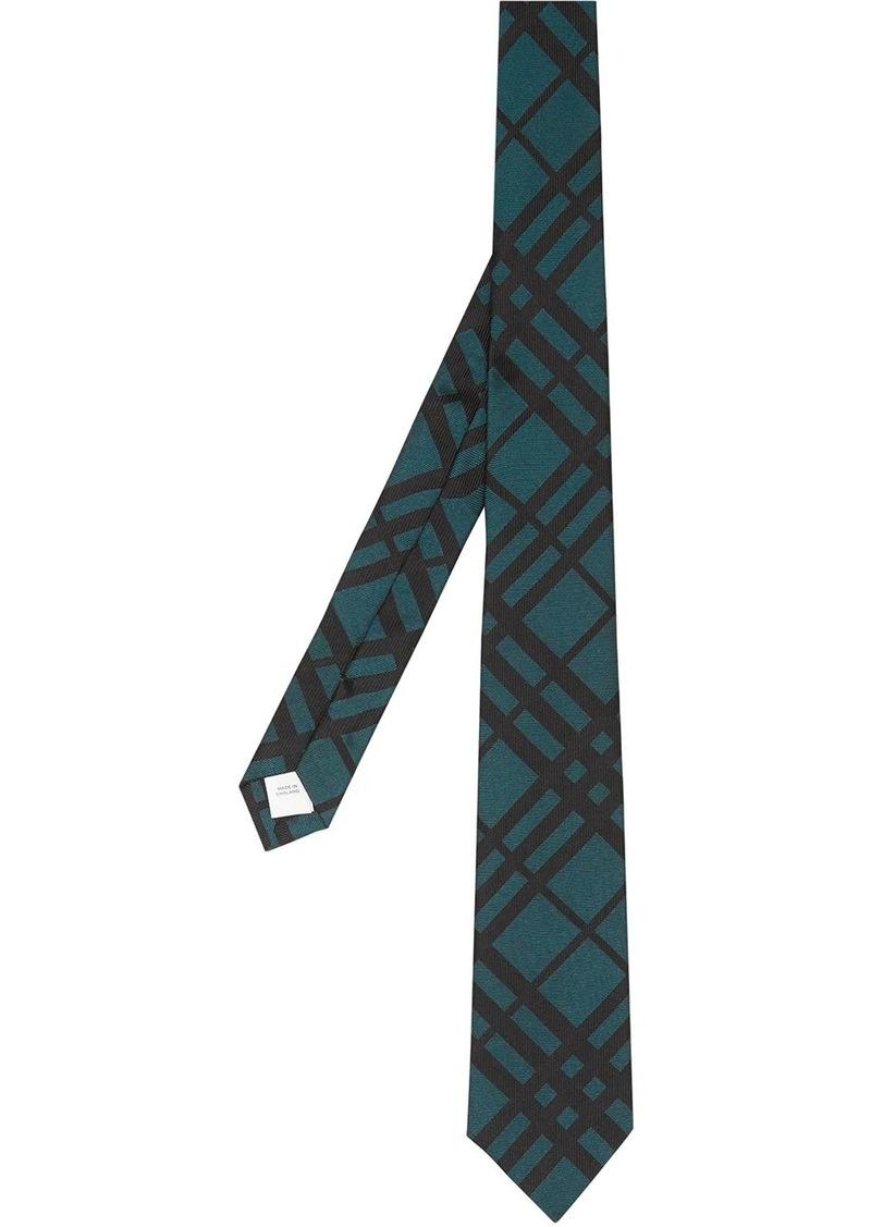 Burberry check jacquard tie