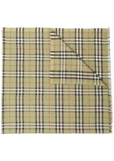 Burberry Check metallic thread scarf