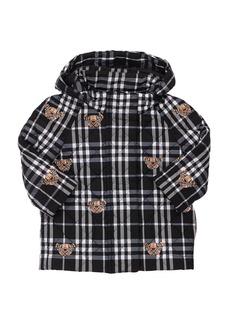 Burberry Check Nylon Down Coat