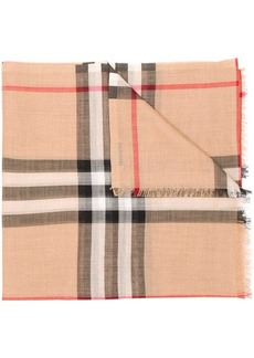 Burberry check pattern scarf