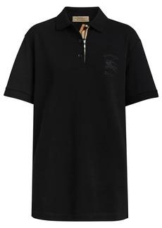 Burberry Check Placket Cotton Piqué Polo Shirt