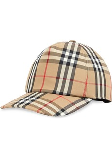 Burberry check print baseball cap
