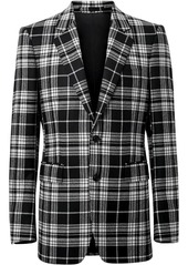 Burberry Classic Fit Tartan Wool Cashmere Tailored Jacket