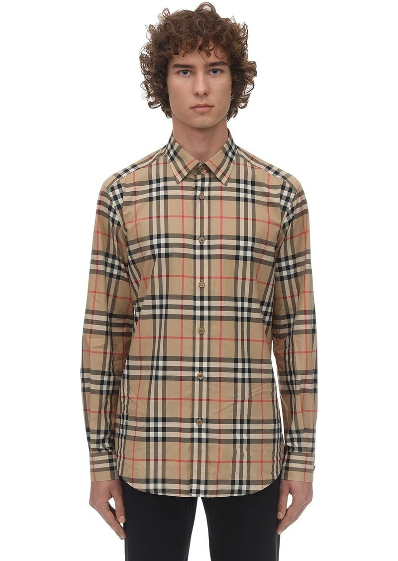 Burberry Check Print Cotton Poplin Caxton Shirt