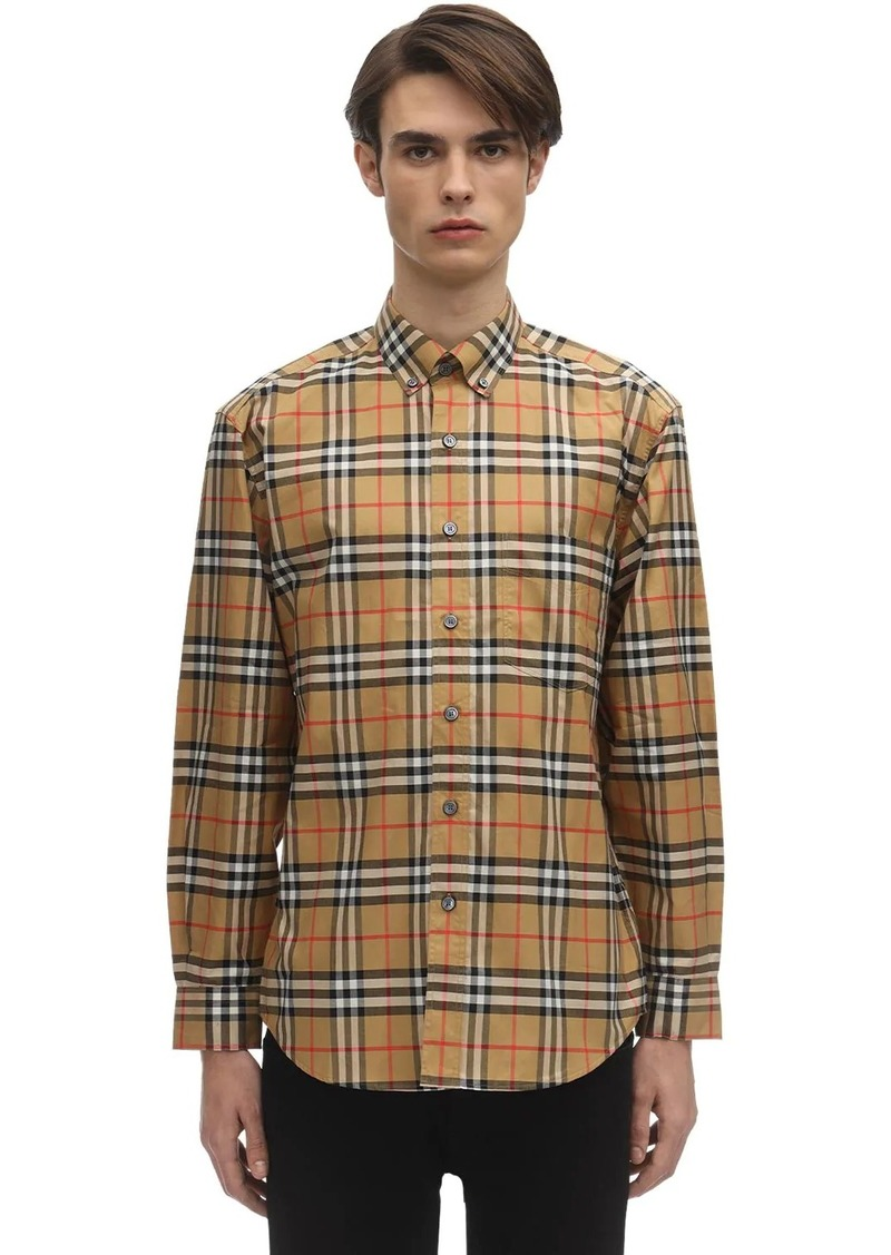 Burberry Check Print Cotton Poplin Jameson Shirt