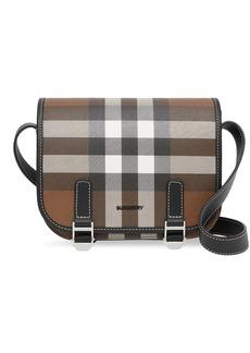 Burberry check-print messenger bag