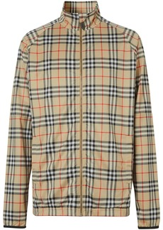 Burberry check-print sports jacket