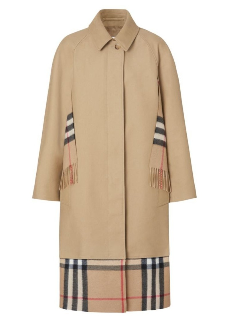 Burberry Check Scarf Inset Car Coat