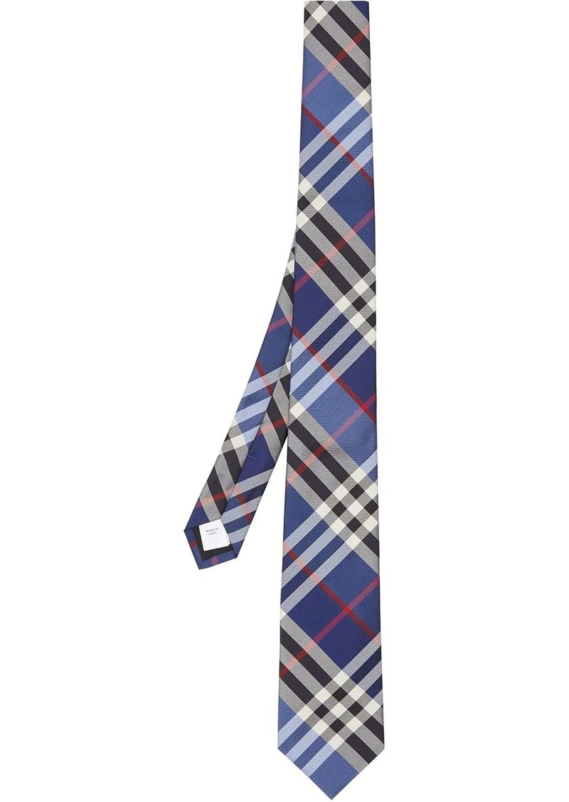 Burberry check silk jacquard tie